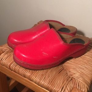 Vintage Swedish wooden clogs